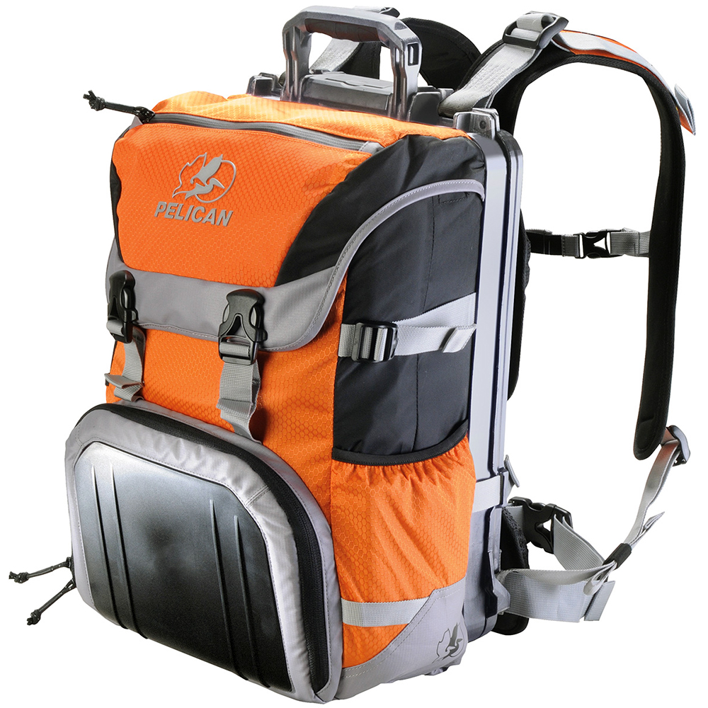 Orange Sport Top-Loader Backpack