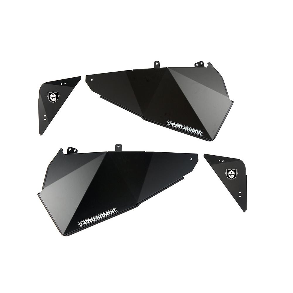 Black & Brushed Aluminum Lower Door Inserts
