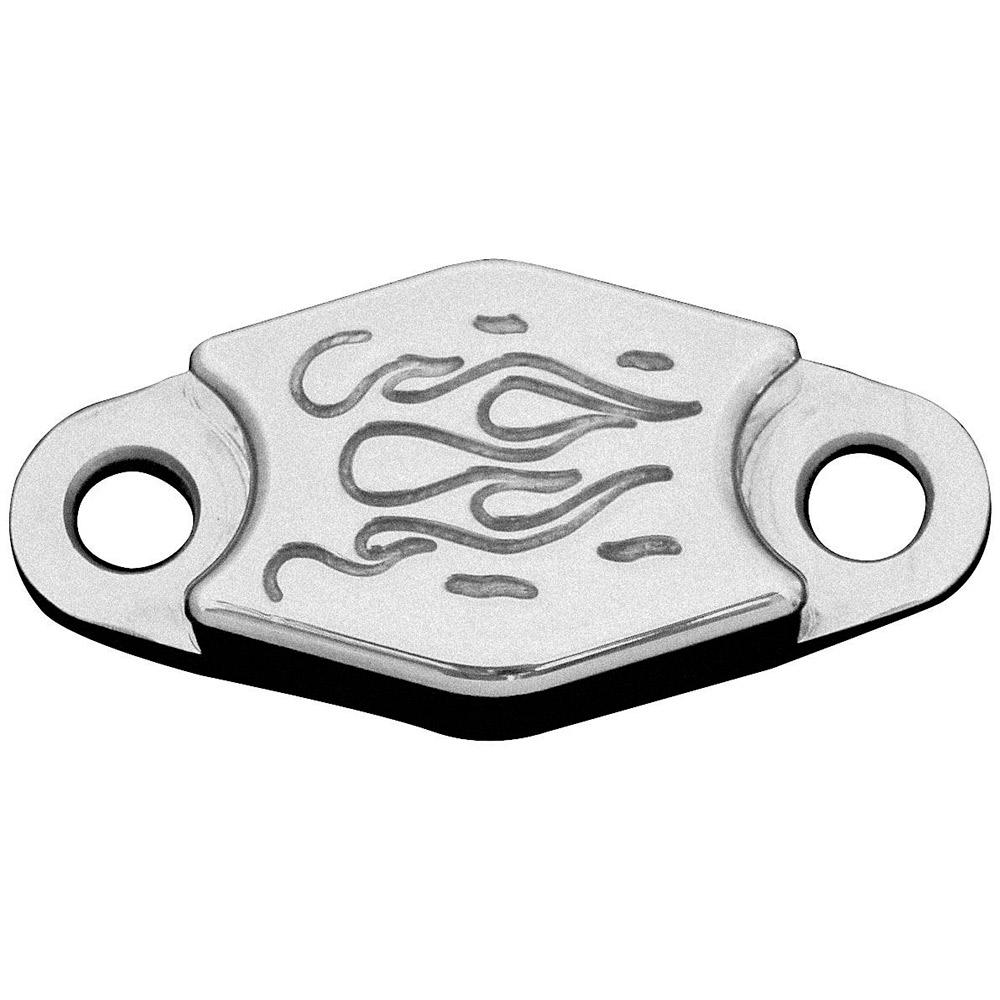 Aluminum Flames Parking Brake Block-Off Plate