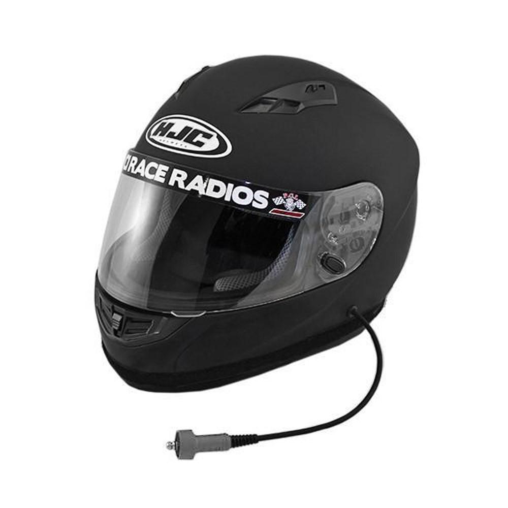 Black Large Full Face Wired DOT Helmet