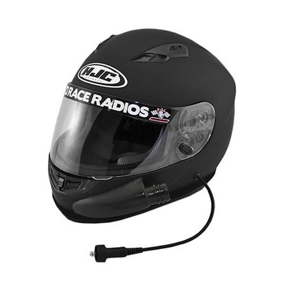 Black Large Full Face Wired DOT RaceAir Helmet