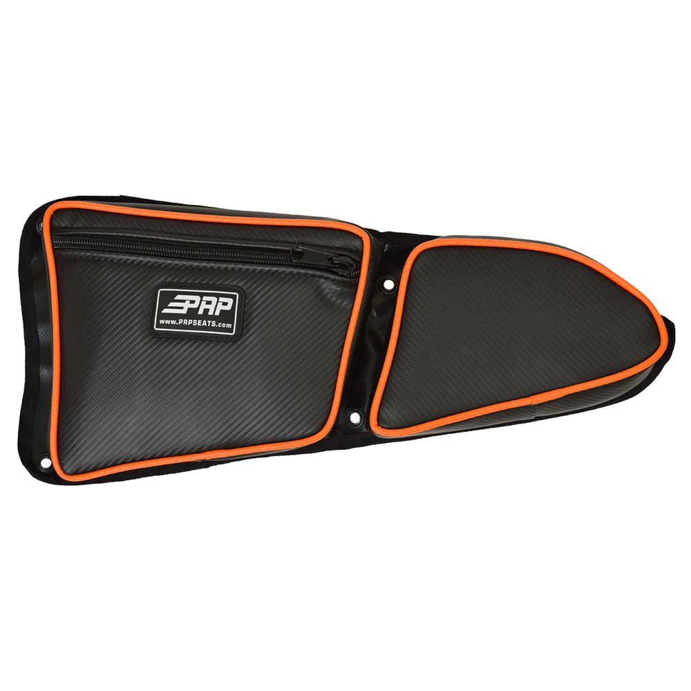 Black & Orange Drivers Side Door Bag with Knee Pads