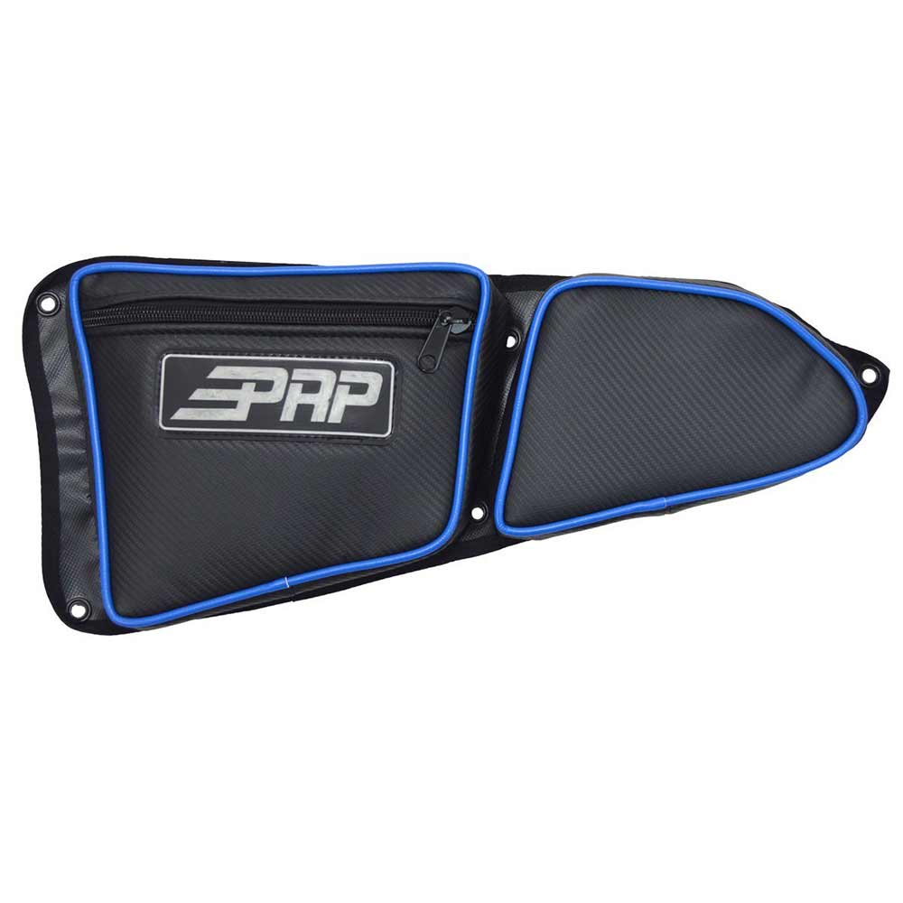 Black & Blue Drivers Side Door Bag with Knee Pads