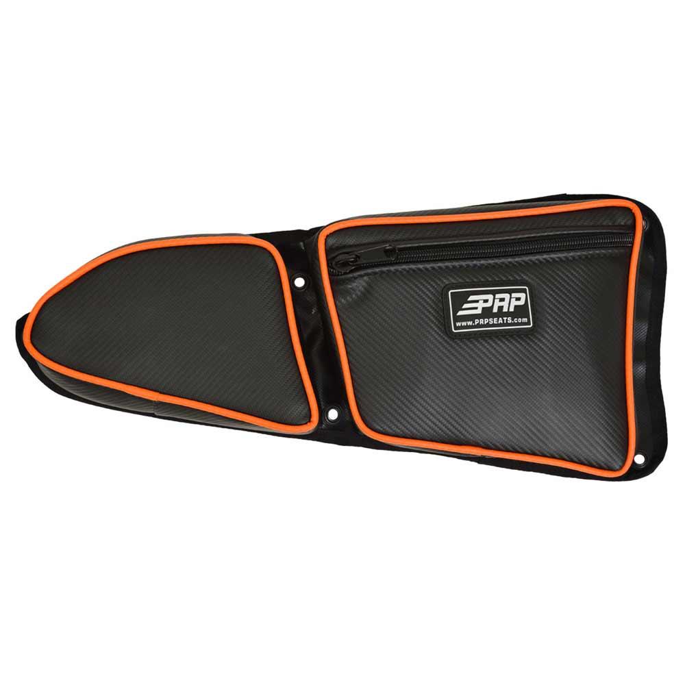 Black & Orange Passanger Side Door Bag with Knee Pads