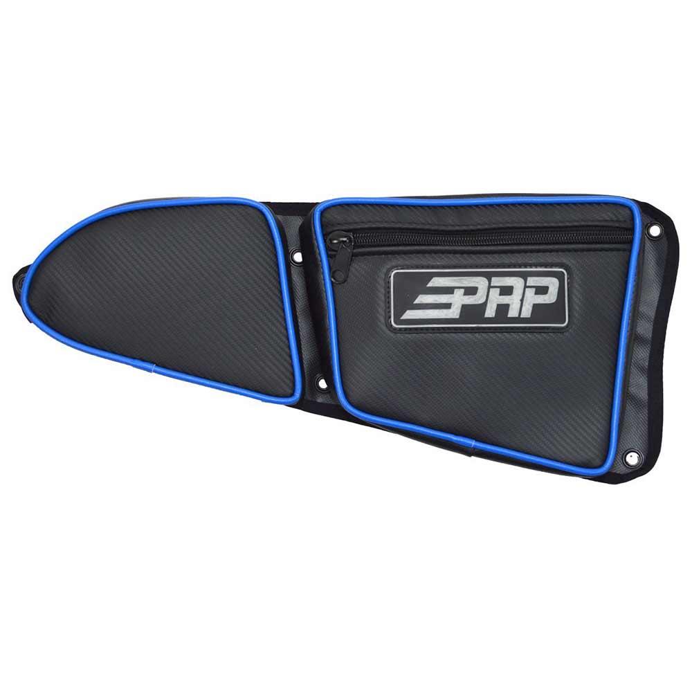 Black & Blue Passenger Side Door Bag with Knee Pads