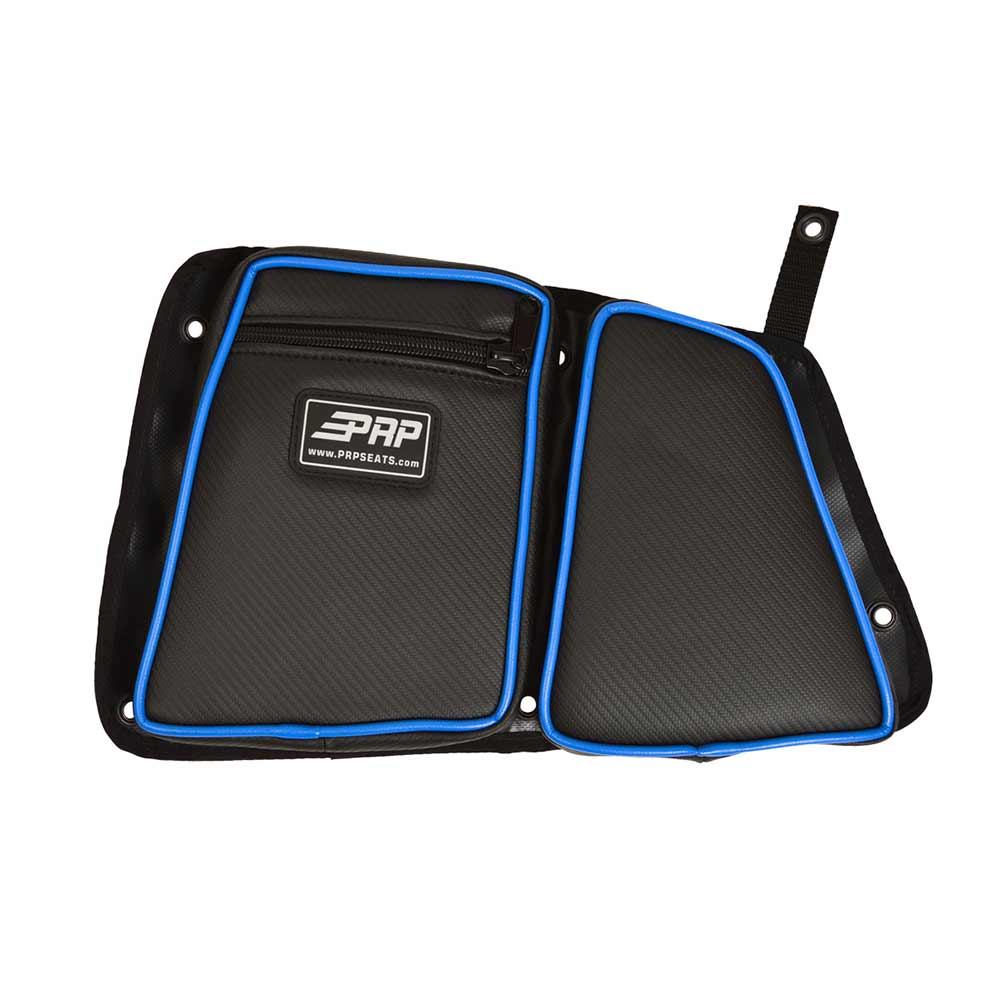 Black & Blue Rear Drivers Side Door Bag with Knee Pads