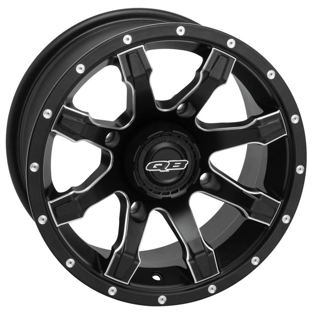 12x7|4x110|2+5 Black/Machined Wheel
