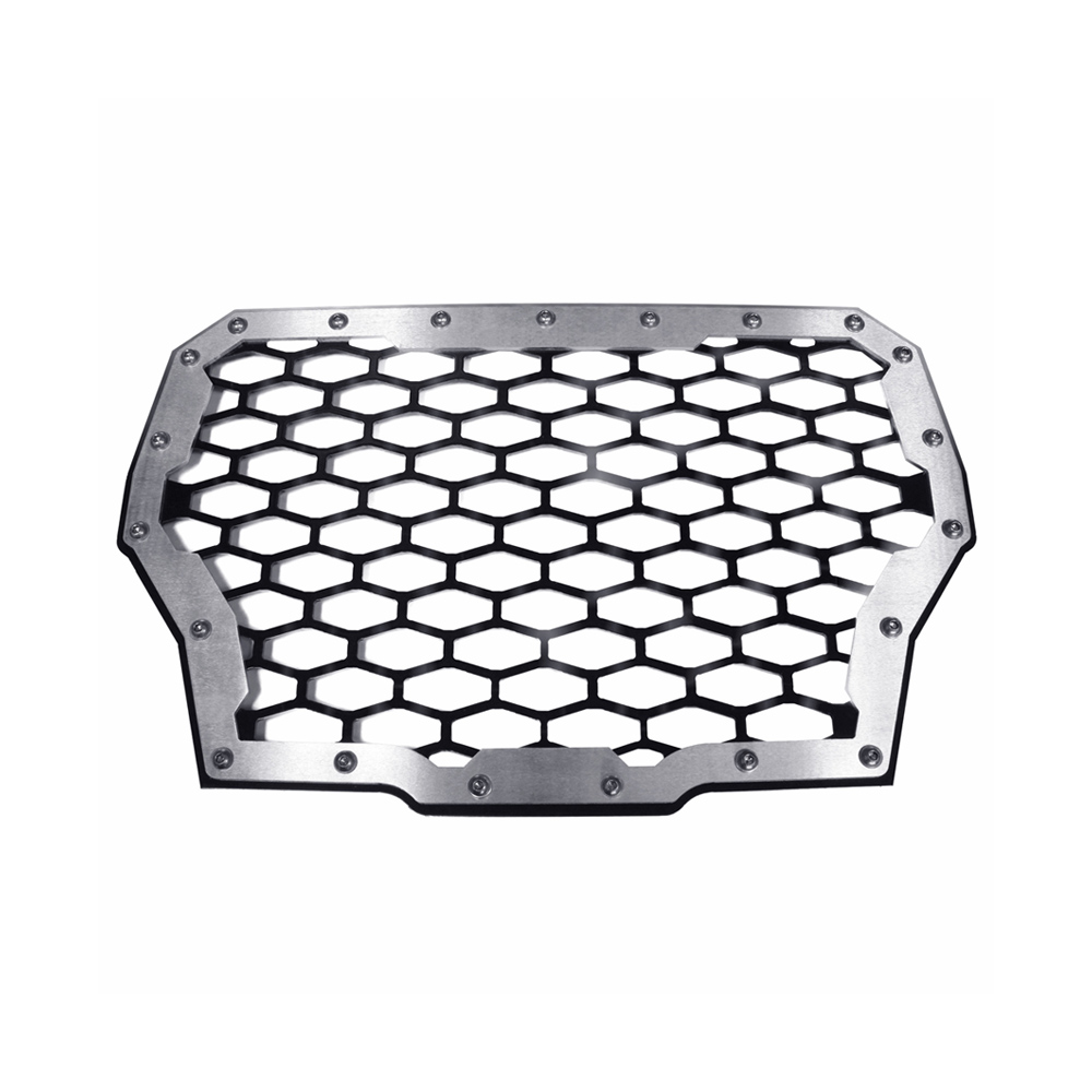 Aluminum & Black 2-Panel Stainless Steel Front Grill