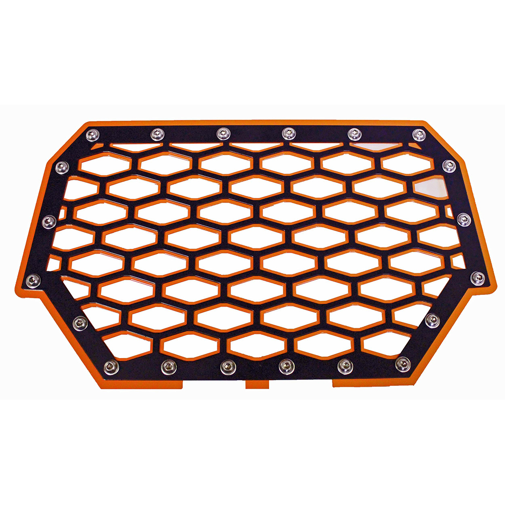 Orange & Black 2-Panel Stainless Steel Front Grill