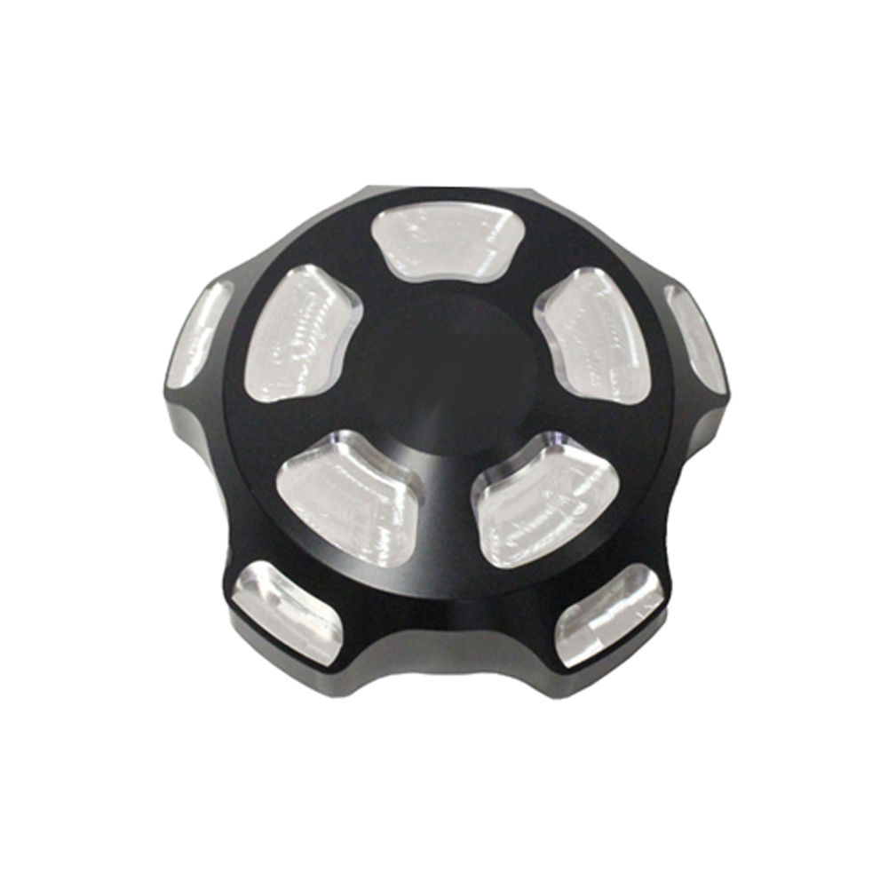 Black Billet Aluminum Gas Cap with Pockets