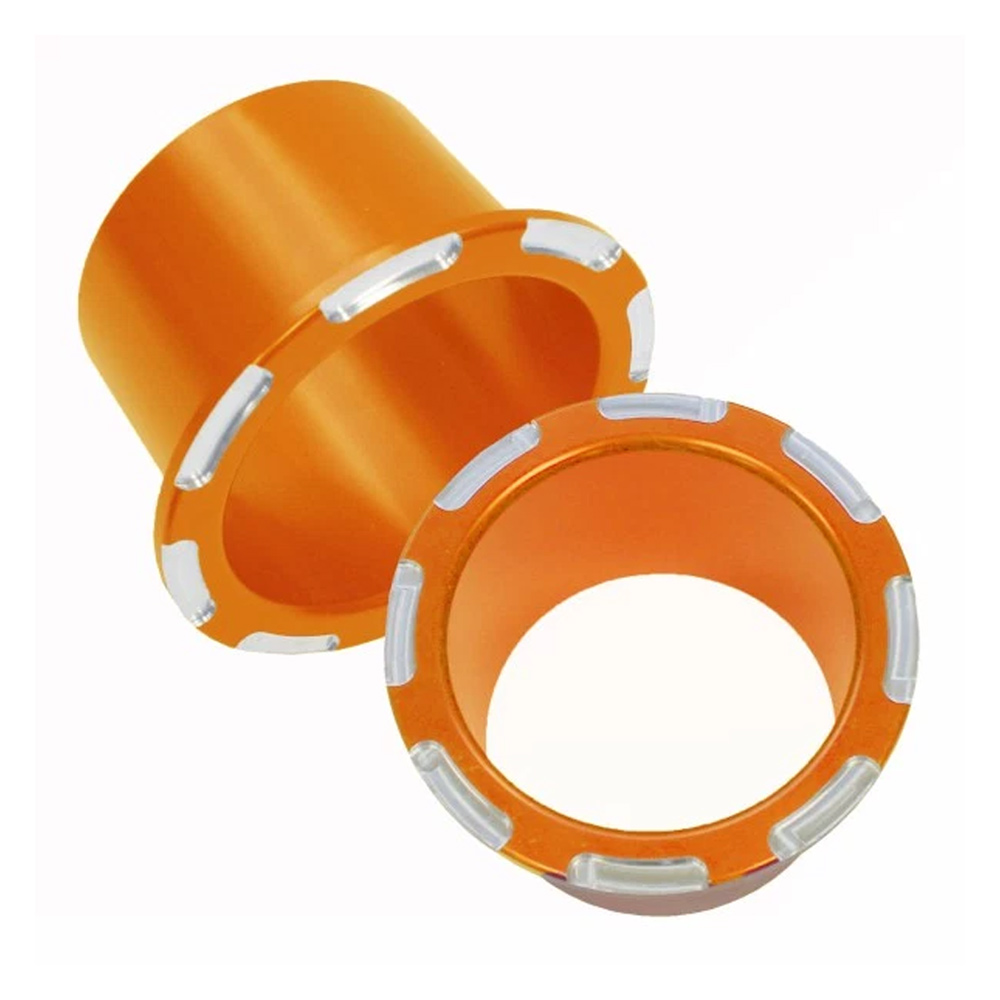 Orange Anodized Billet Cup Holders (2)