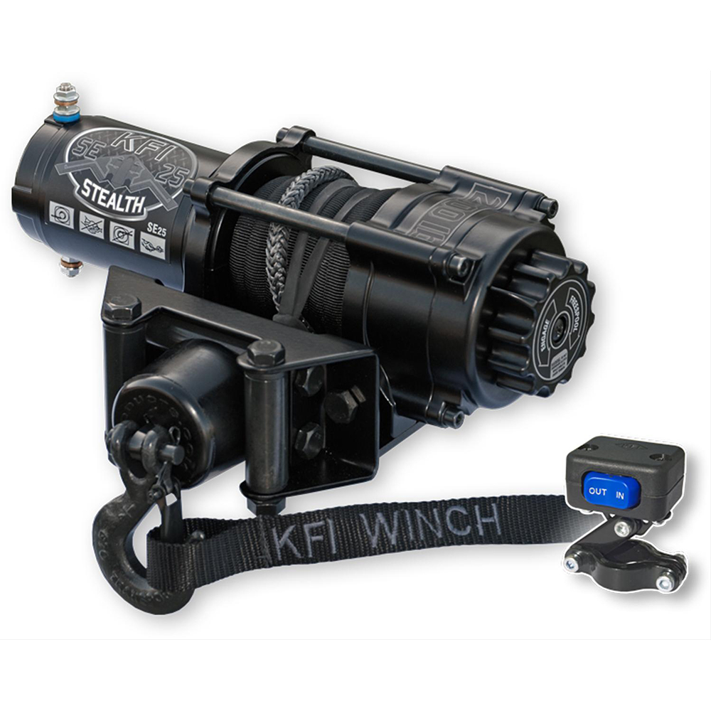 2500 LB Capacity Winch with 50' Synthetic Cable