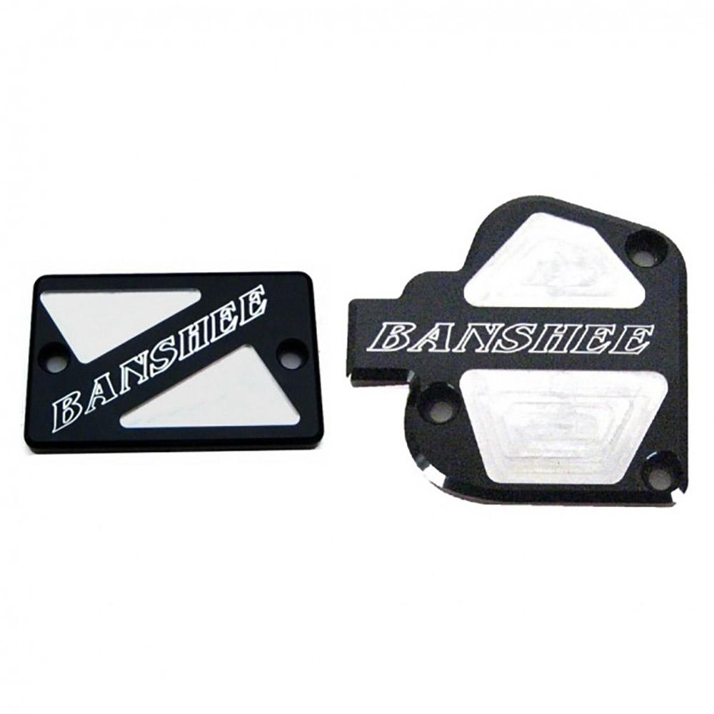 Black Brake and Throttle Cover Set