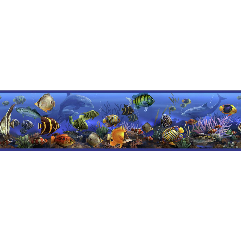 Under The Sea Wallpaper Border Room Wall Decor Ocean Fish