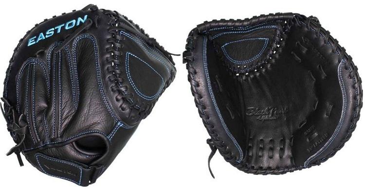 "NEW Lists @ $75 Easton Black Pearl BP2FP 33/"" Fastpitch Catcher/'s Softball Mitt"