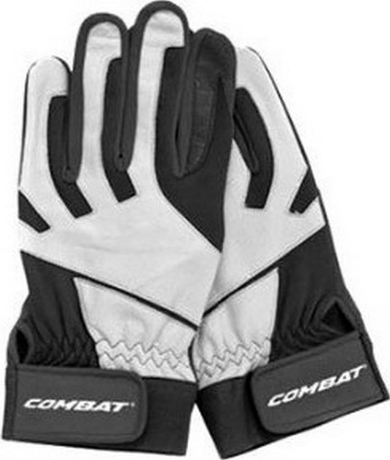 1 Pr Combat JM26 Signature J McCraw White White XX-Large Adult Batting Gloves