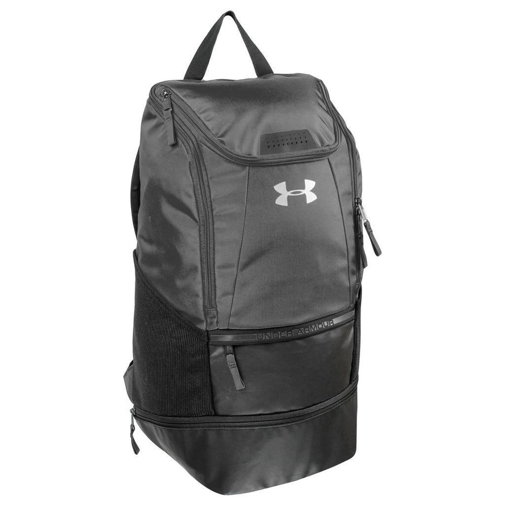 741ac1070a0 Details about Under Armour UASB-SBP4 Black Striker Soccer /  Volleyball/Basketball Backpack Bag