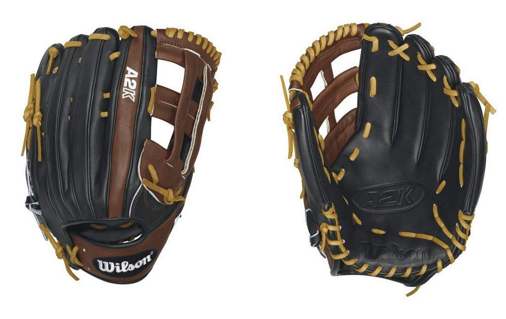 Wilson WTA2KRB161799 A2K Guante de béisbol  outfield  RHT Mitt 12.75