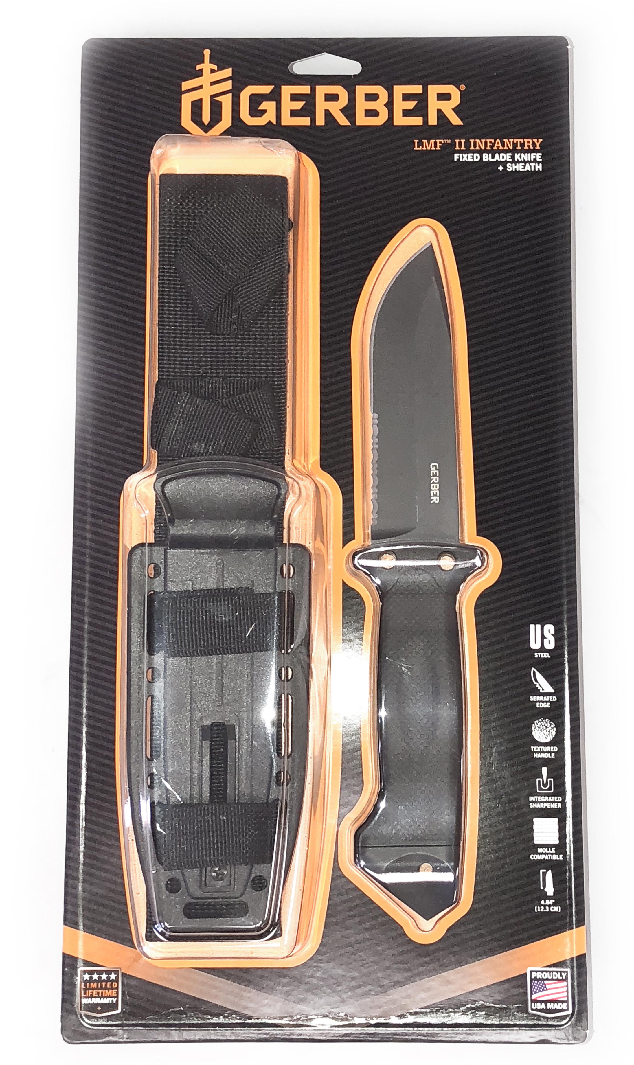 e8b58b25717 Gerber LMF II Infantry Knife, Black 13658416291   eBay