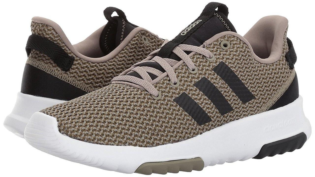 55b1a071505fa Adidas B43635 Men s CloudFoam Racer Trail Running Trace Khaki   Core Black  Shoes