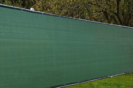 6 X 50 Fence Wind Privacy Screen Mesh Grommets Green
