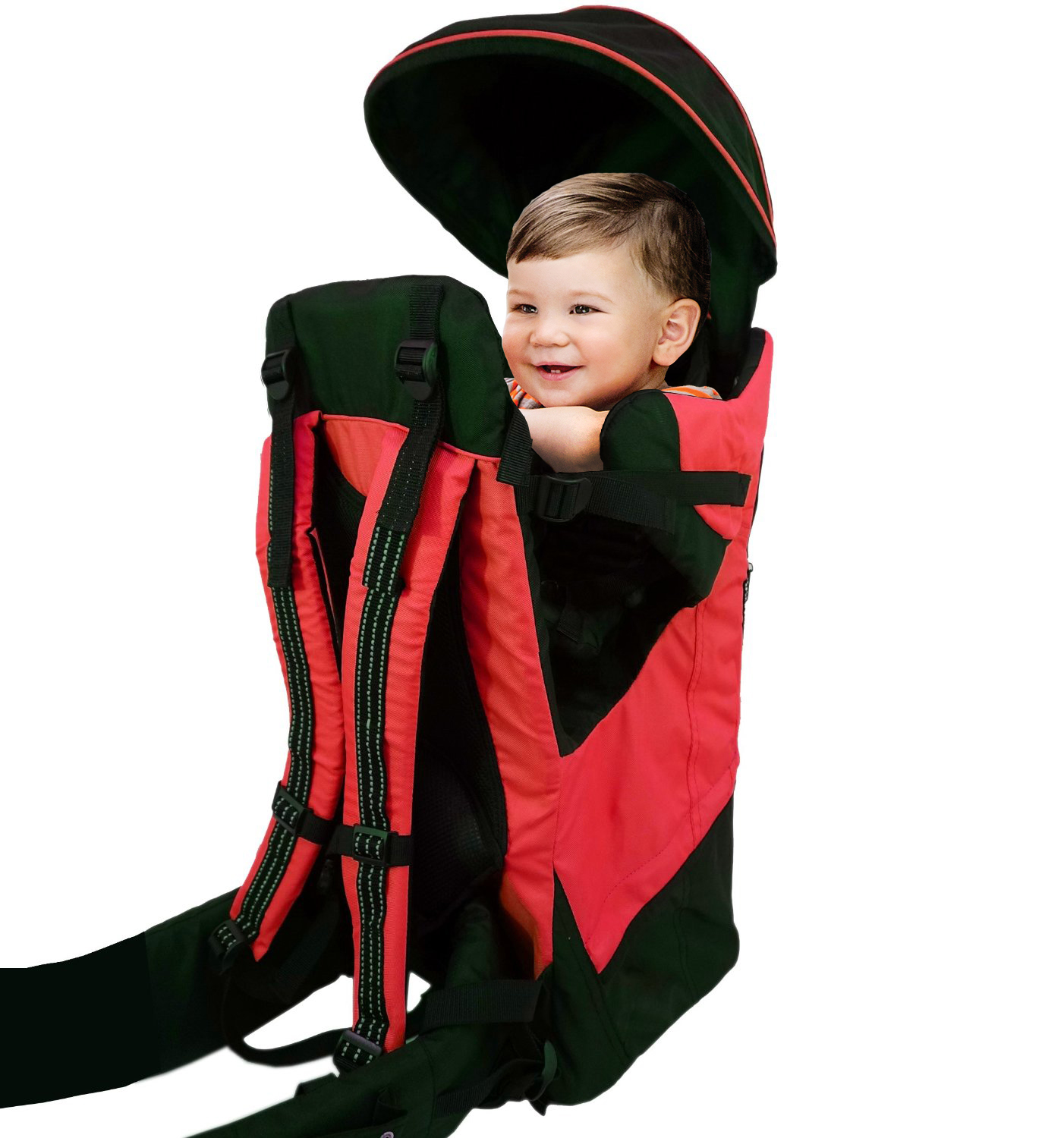 Deluxe Red Baby Toddler Backpack Cross Country Carrier