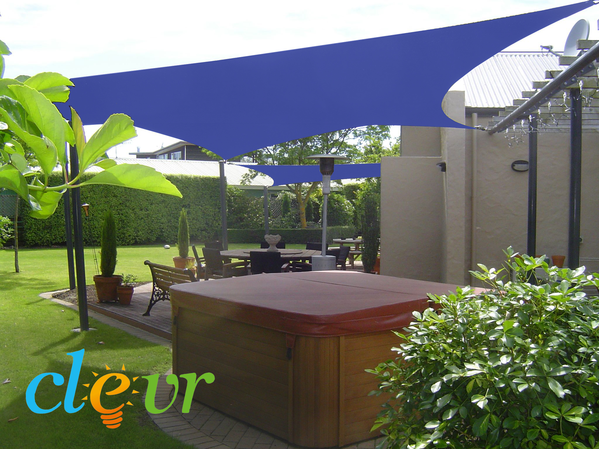 New-Premium-Clevr-Sun-Shade-Canopy-Sail-12- & New Premium Clevr Sun Shade Canopy Sail 12u0027 / 18u0027 Square UV ...