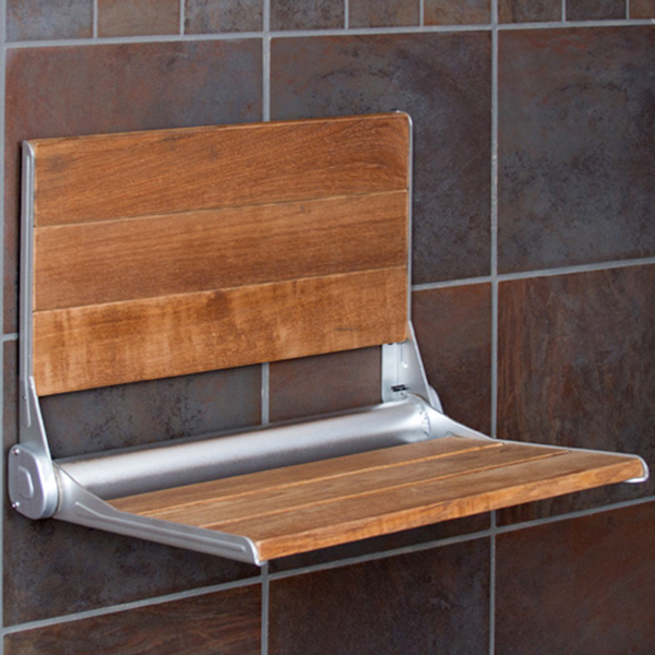 Incredible Details About Clevr 18 Ada Compliant Folding Teak Wood Shower Bench Seat Medical Wall Mount Andrewgaddart Wooden Chair Designs For Living Room Andrewgaddartcom