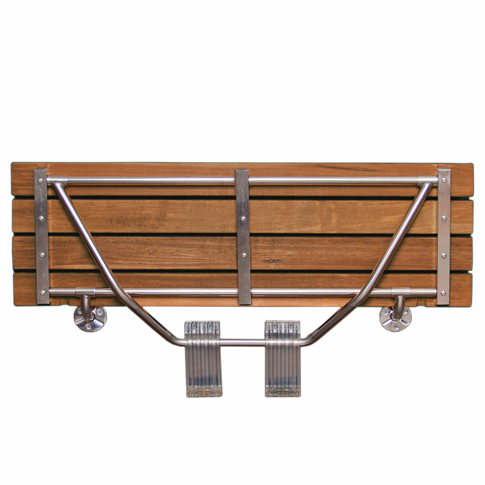 Clevr 36 Quot Double Seat Folding Wall Shower Bench Teak Wood