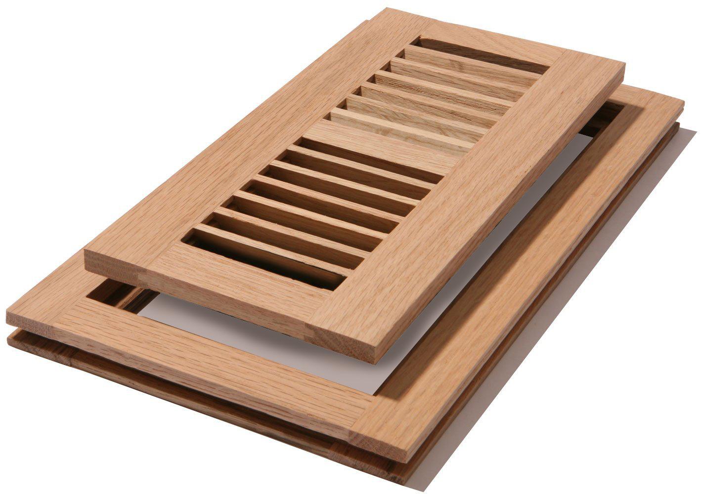 New Venice Wooden 4 Quot X12 Quot Red Oak Wood Vent Floor Register