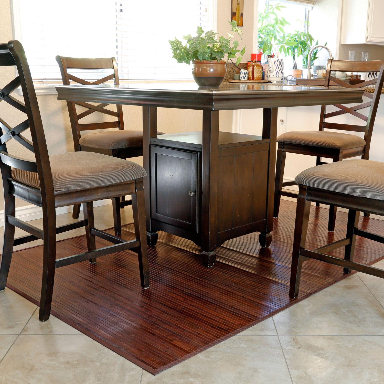 Bamboo Floor Runner Mat Table Area Rug Carpet 17 X 24 Natural Non Slip Bath Door