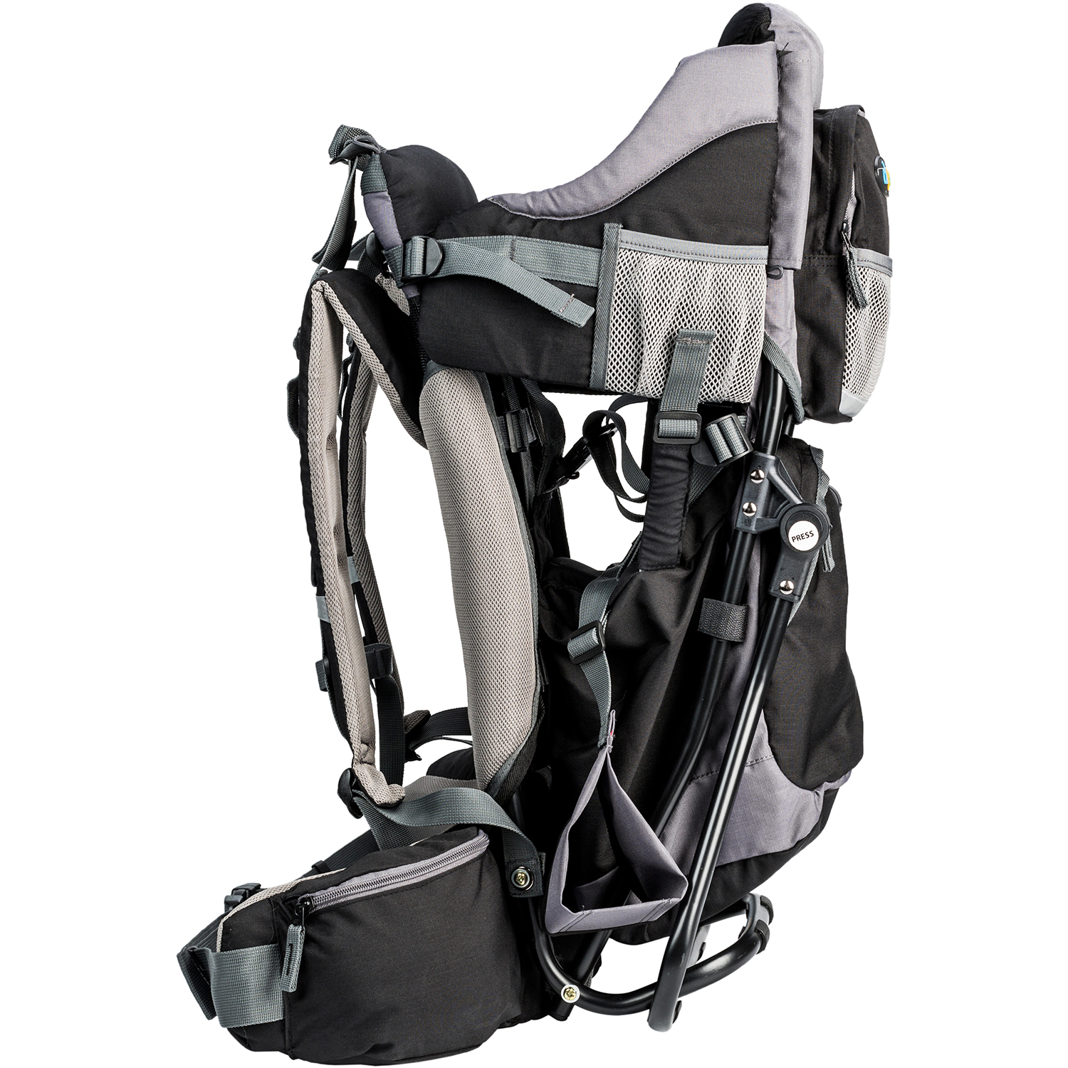 aa5ed8aa7ec Clevr Cross Country Baby Backpack Hiking Carrier with Stand and Sun Shade  Visor Child Kid Toddler