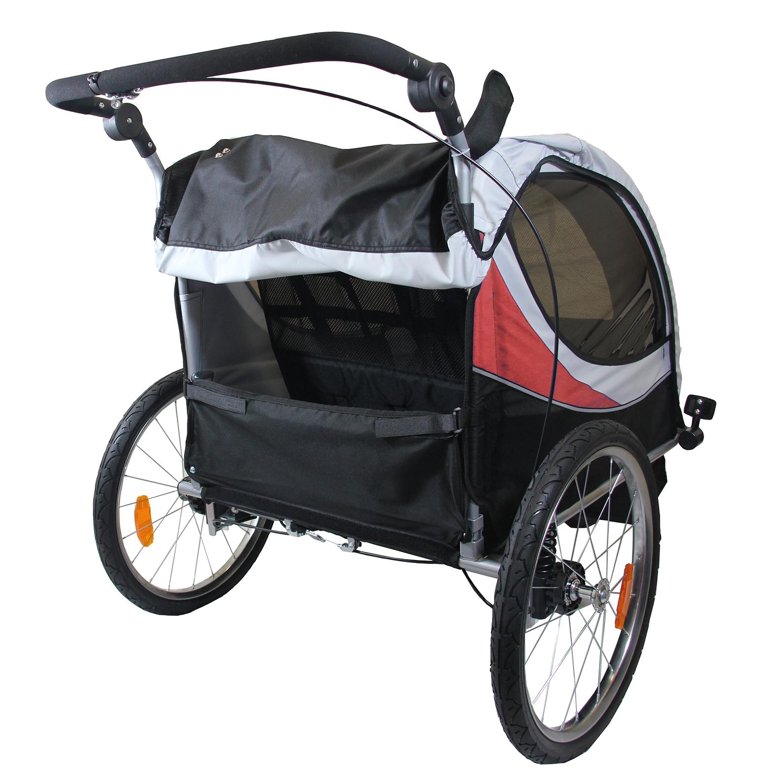 Clevr 2 Seat 3 In 1 Kids Child Stroller Jogger Bike