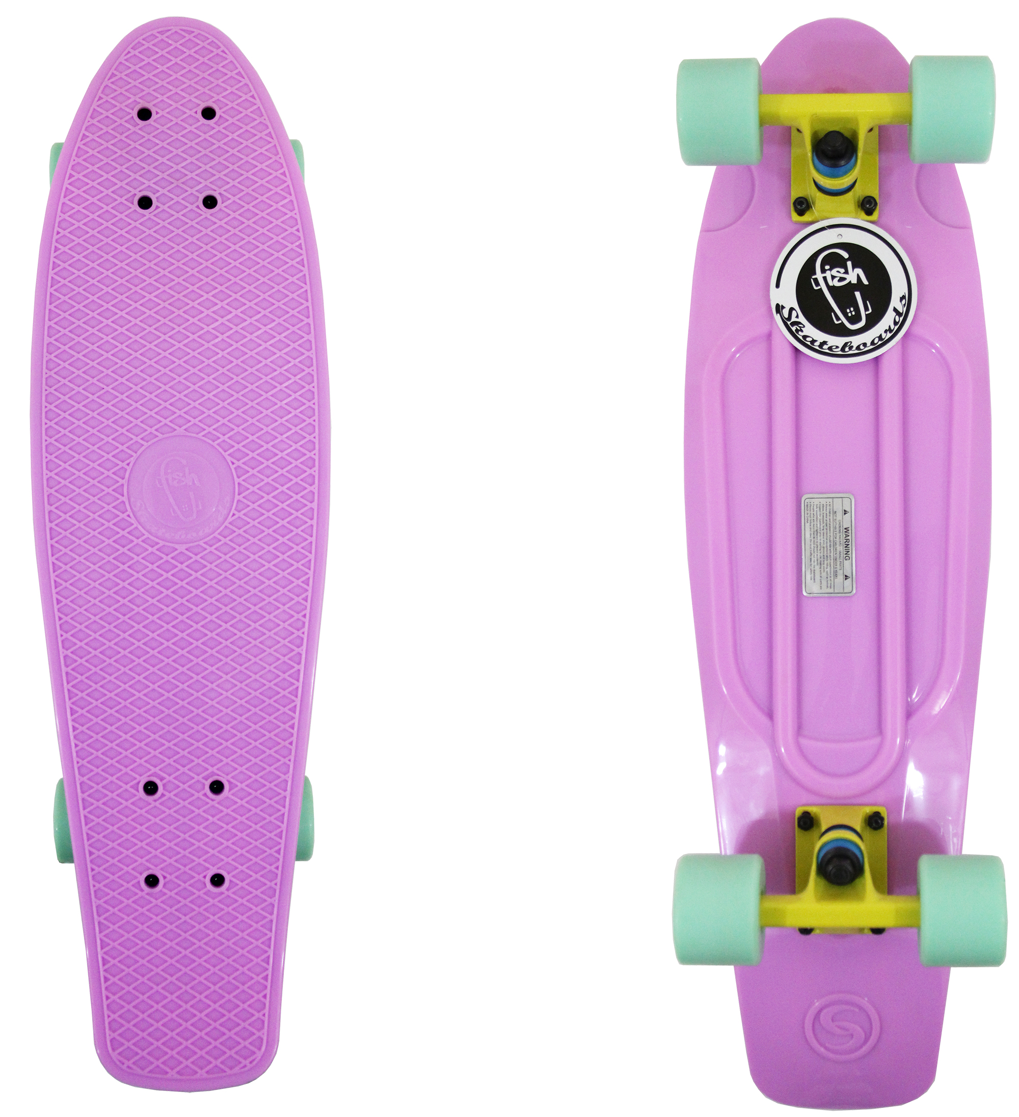 27 Quot Shark Retro Longboard Skateboard Plastic Cruiser Vinyl