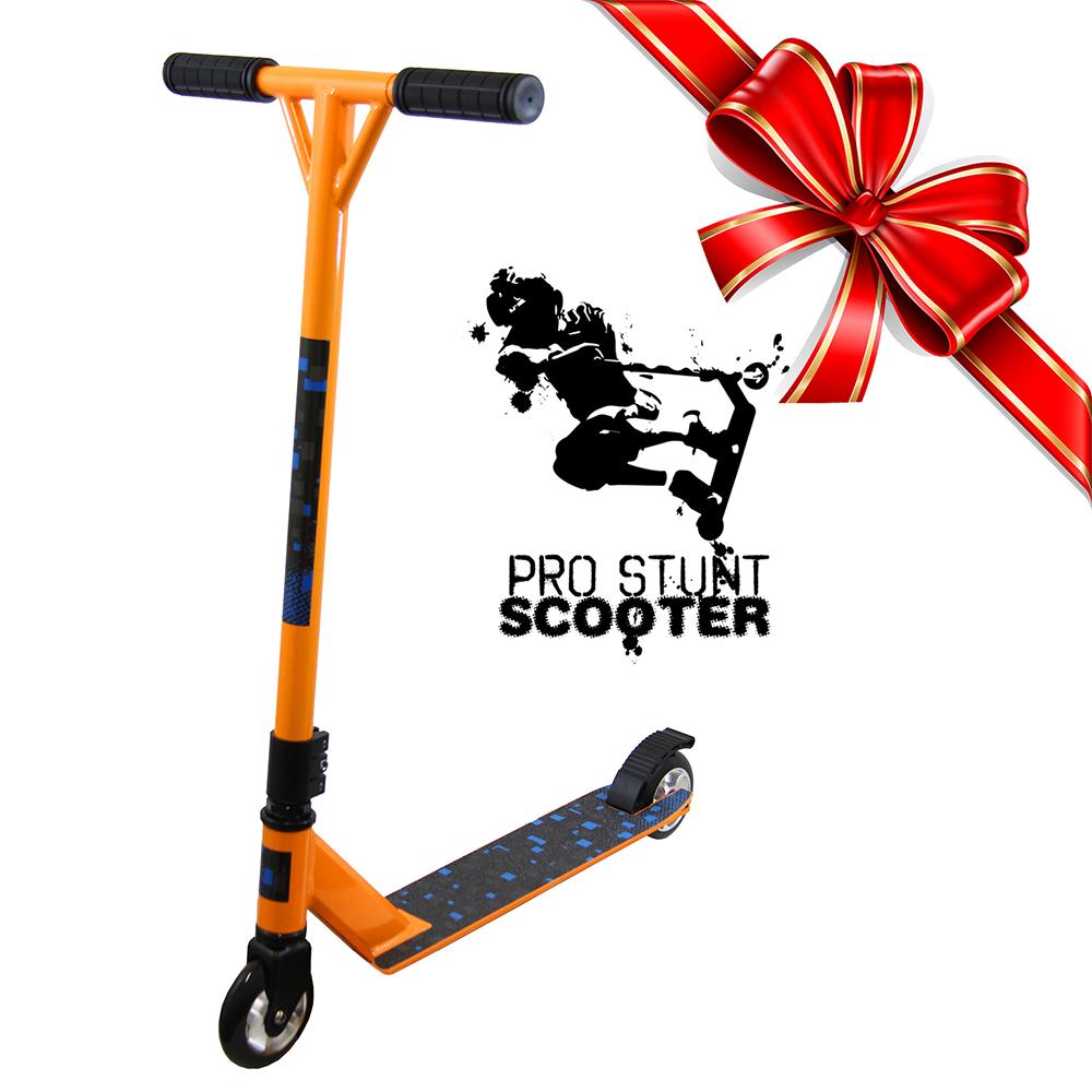 xspec orange pro aluminum stunt kick scooter tricks. Black Bedroom Furniture Sets. Home Design Ideas
