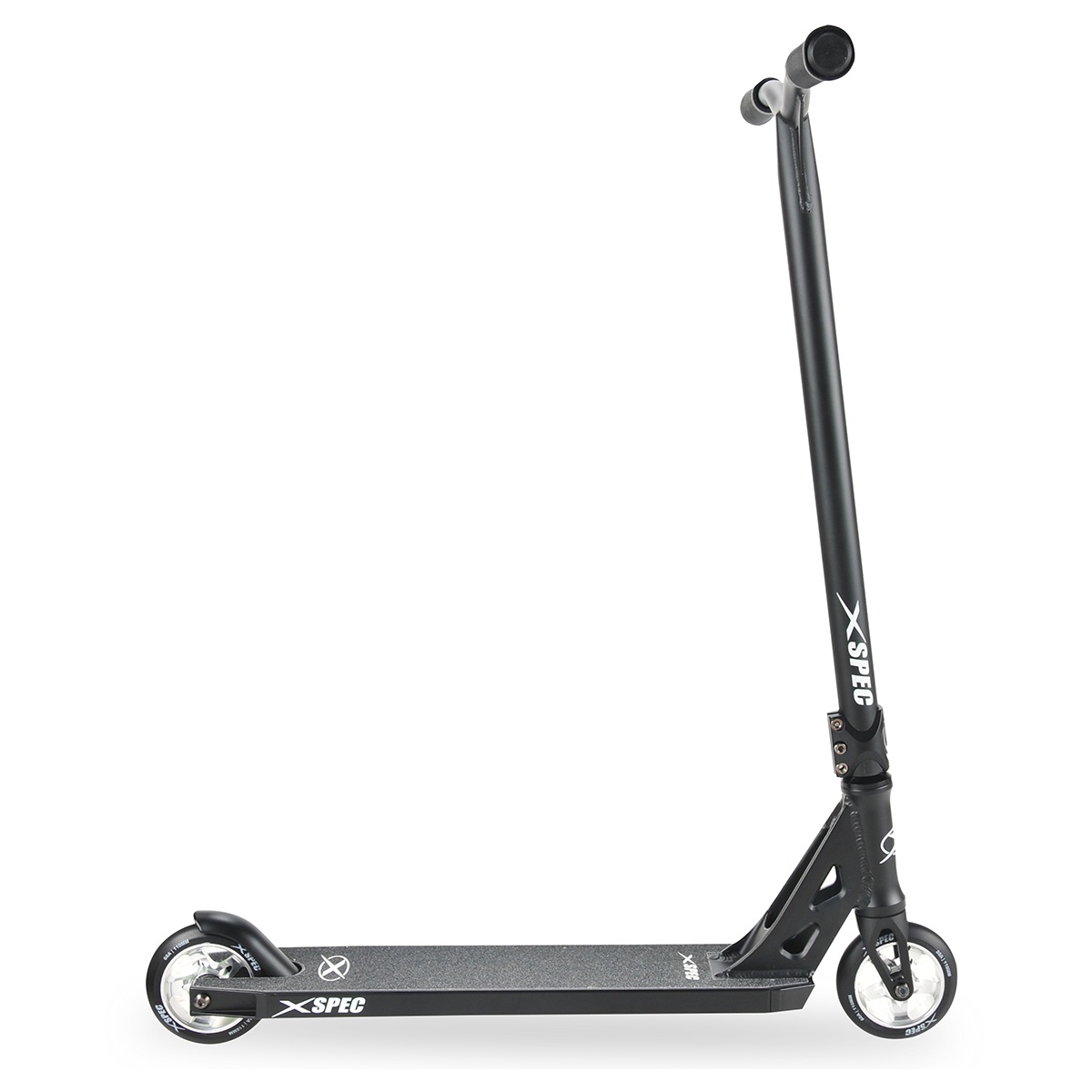 xspec black chrome pro stunt kick scooter trick skatepark. Black Bedroom Furniture Sets. Home Design Ideas