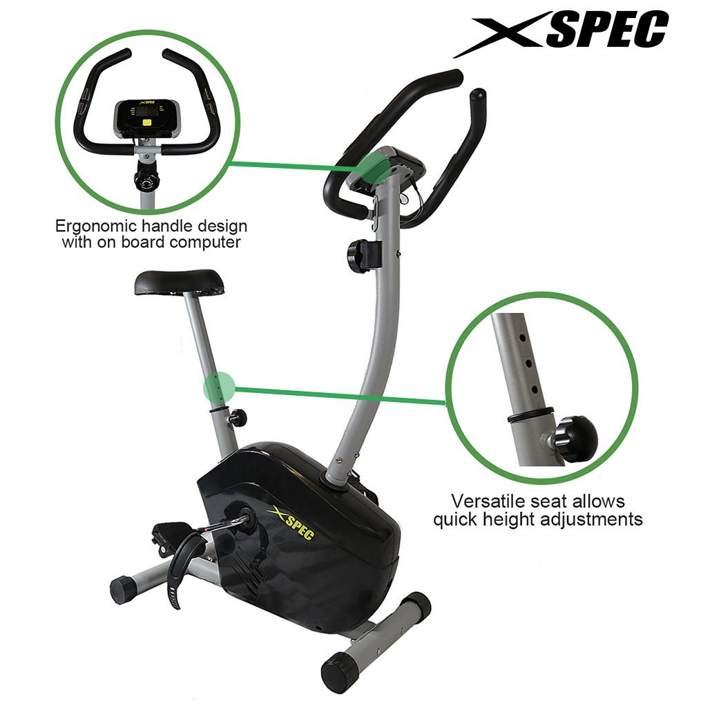 Xspec Stationary Upright Exercise Bike Cardio Workout