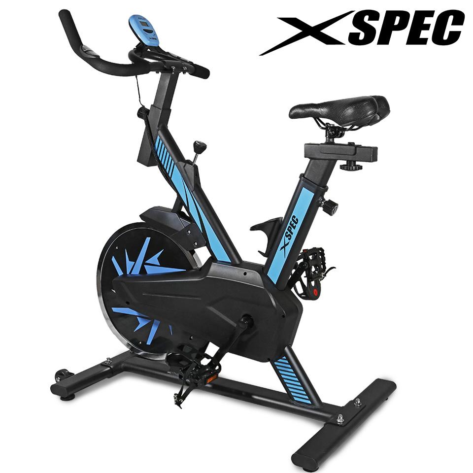 Xspec Pro Stationary Upright Blue Exercise Bike Cycling