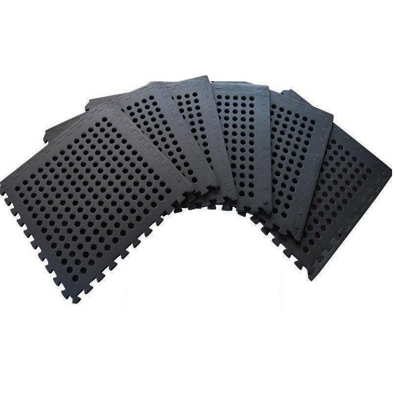 Clevr EVA Foam Flooring Interlocking Mat W/ Drain Holes 96