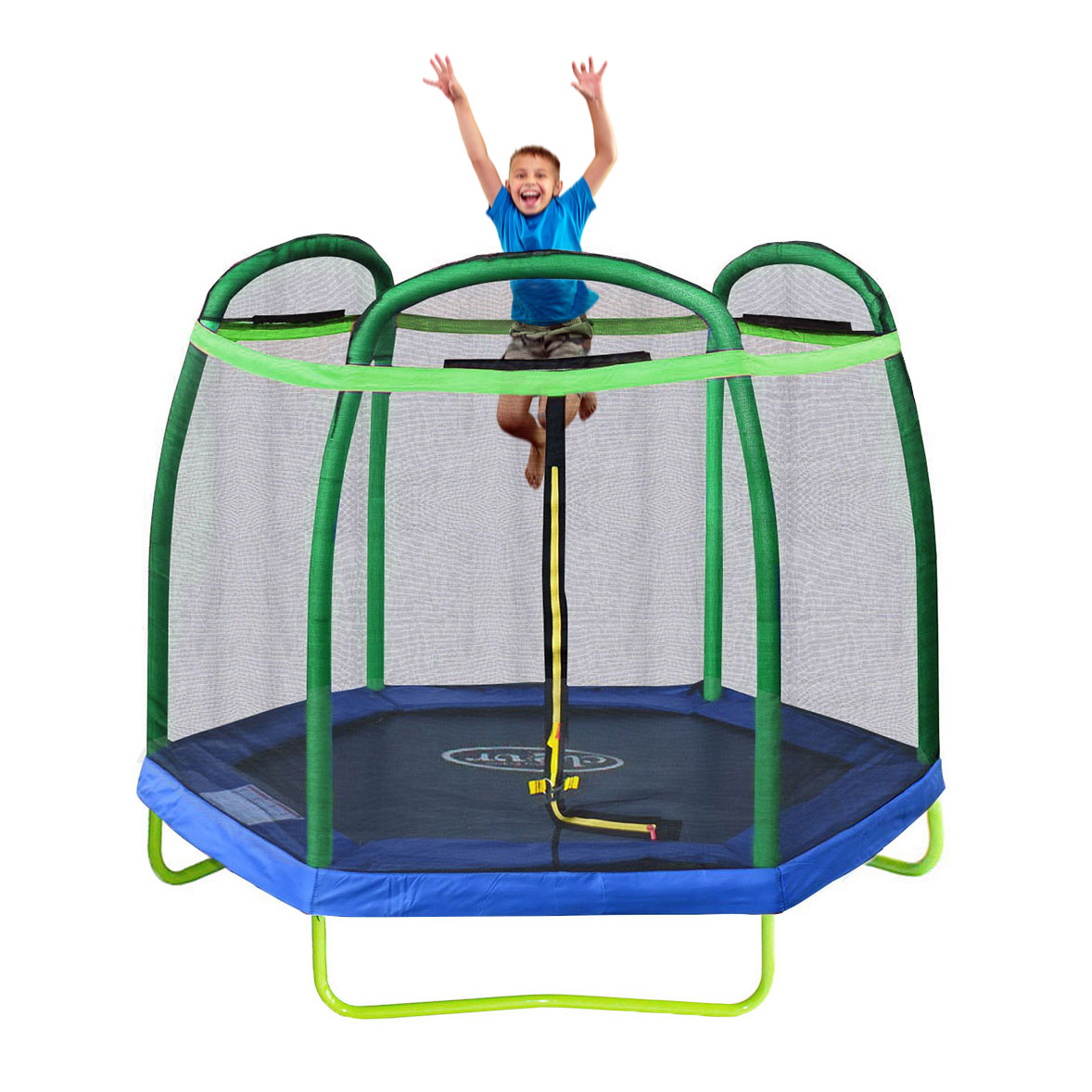 Zupapa Round 14ft Trampoline Frame Safety Enclosure Spring: New Clevr 7FT Trampoline Bounce Jump Safety Enclosure Net