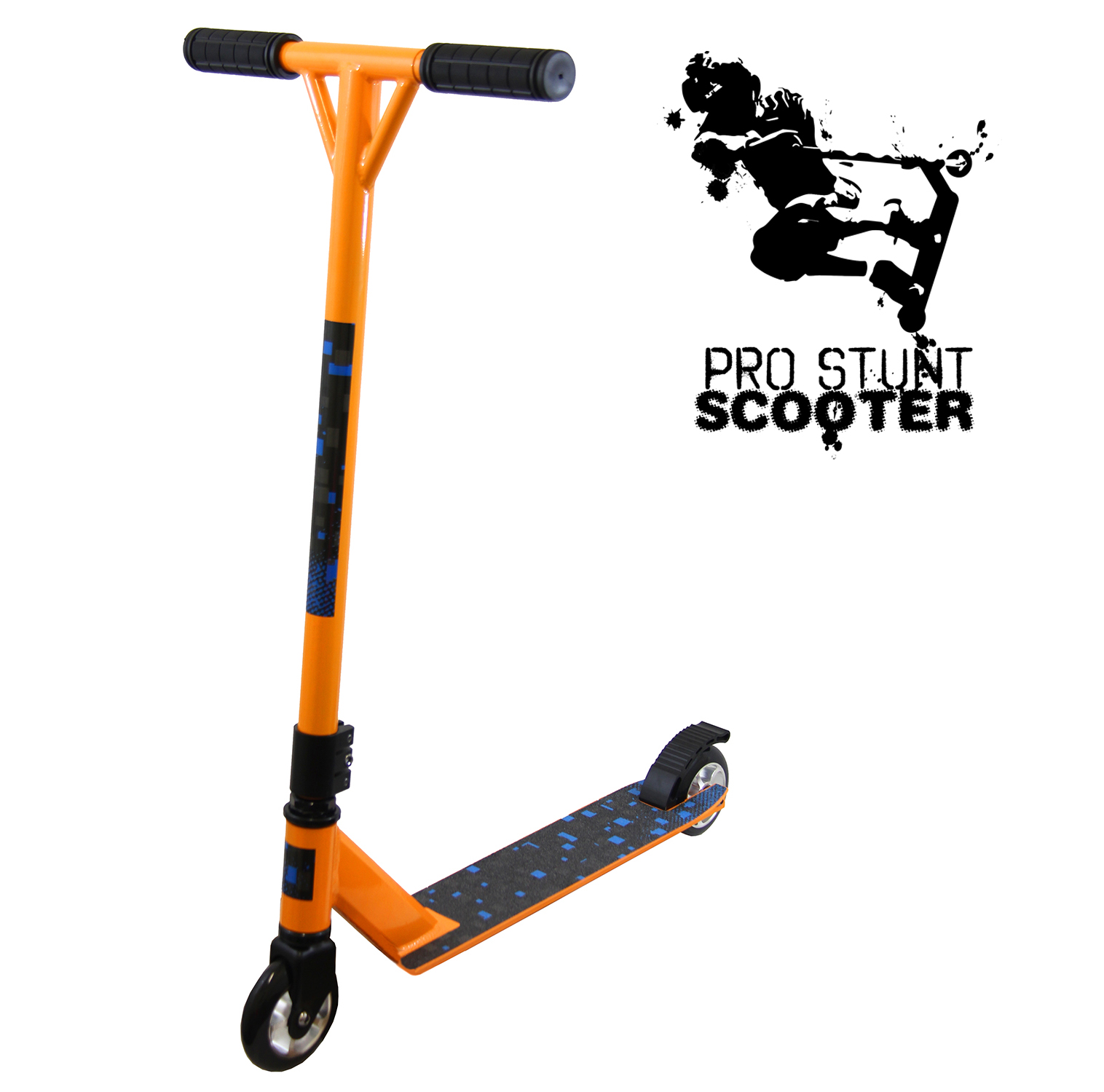 xspec orange pro aluminum stunt kick scooter tricks. Black Bedroom Furniture Sets. Home Design Ideas
