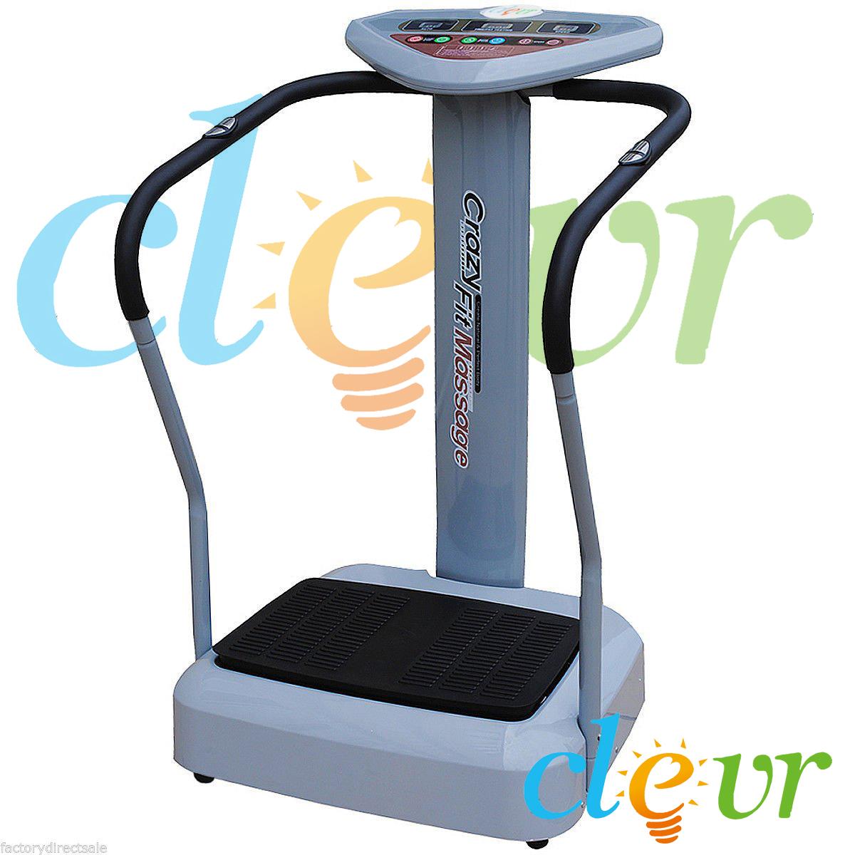 1000w pro crazy fit full body vibration massage machine platform massage fitness ebay. Black Bedroom Furniture Sets. Home Design Ideas