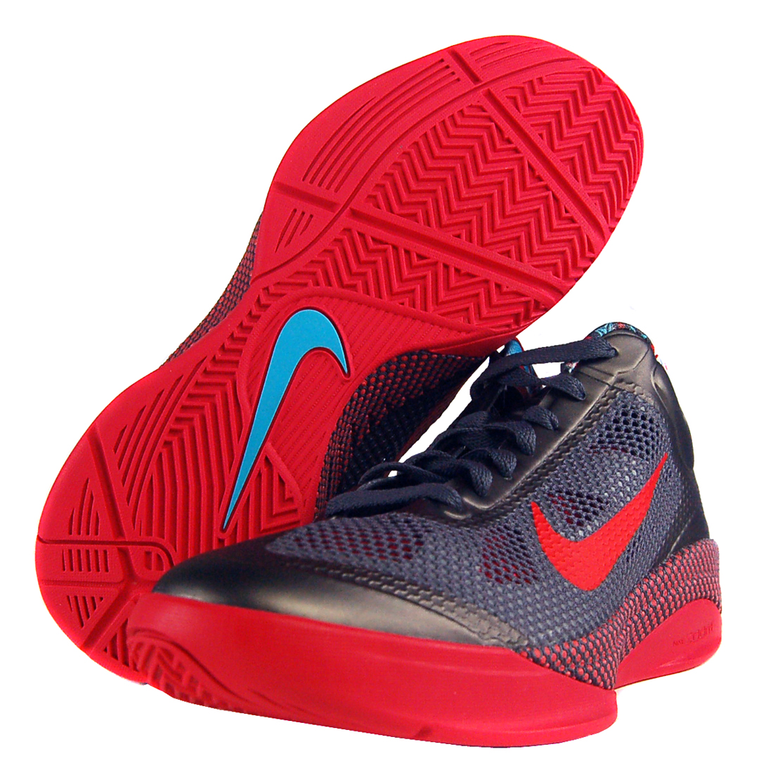 newest 7a9f8 65b8d Nike Zoom Hyperfuse Low Sz 8 Mens Basketball Shoes Grey Blue Red