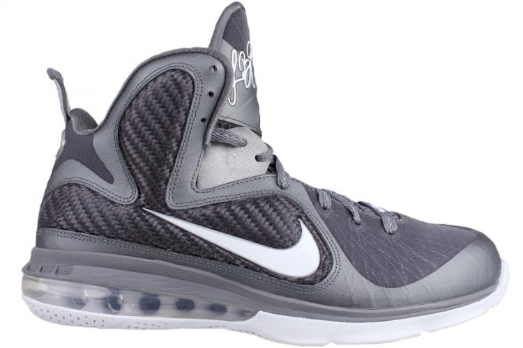53182839188 Nike Lebron 9 Sz 16 Mens Basketball Shoes Gray White Silver on PopScreen