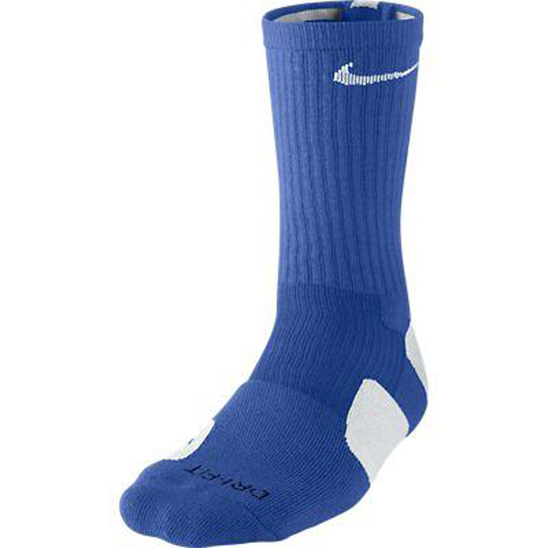 Nike Elite Cushioned Basketball Socks Blue LG Sz 8-12 | eBay