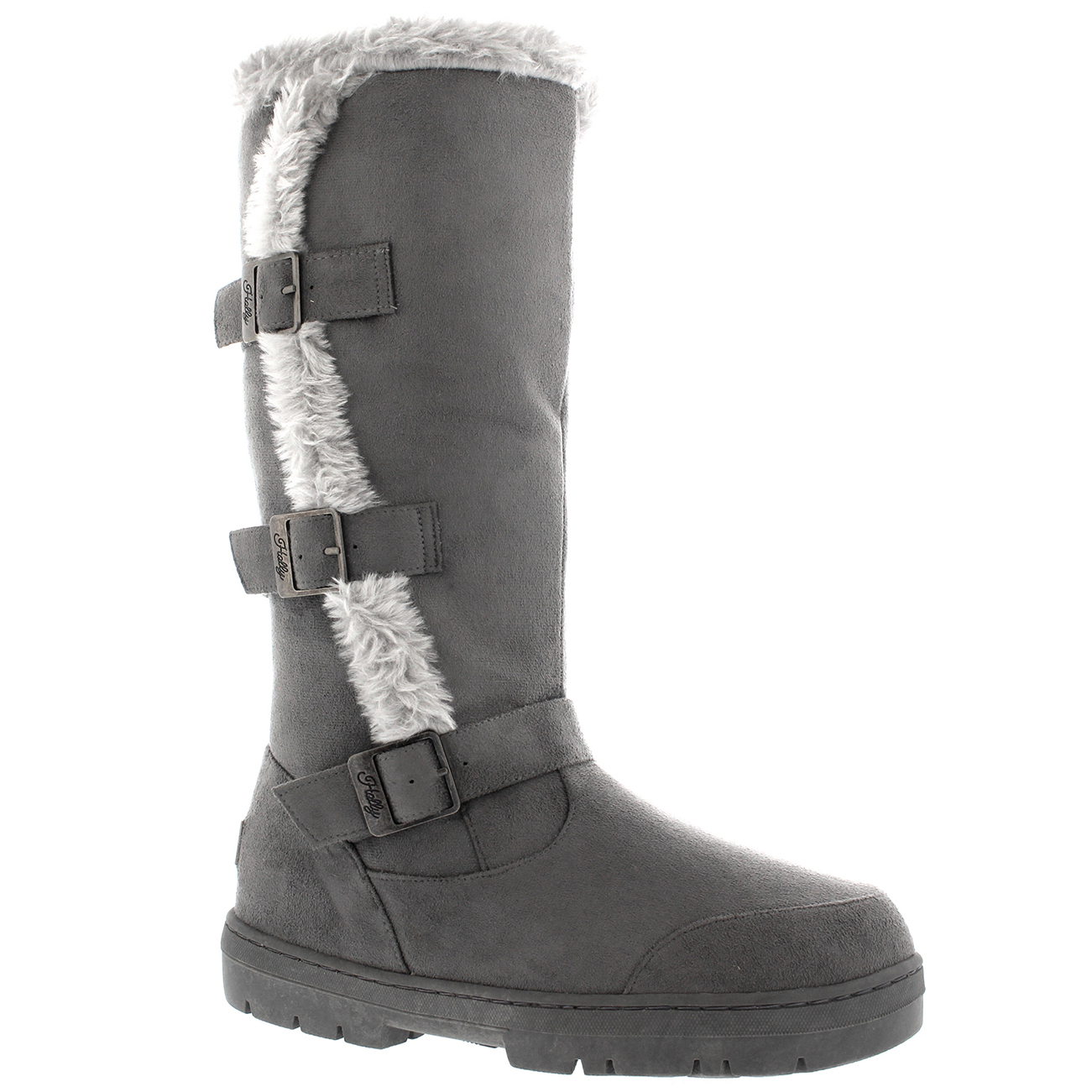 womens knee high fur lined snow waterproof sole