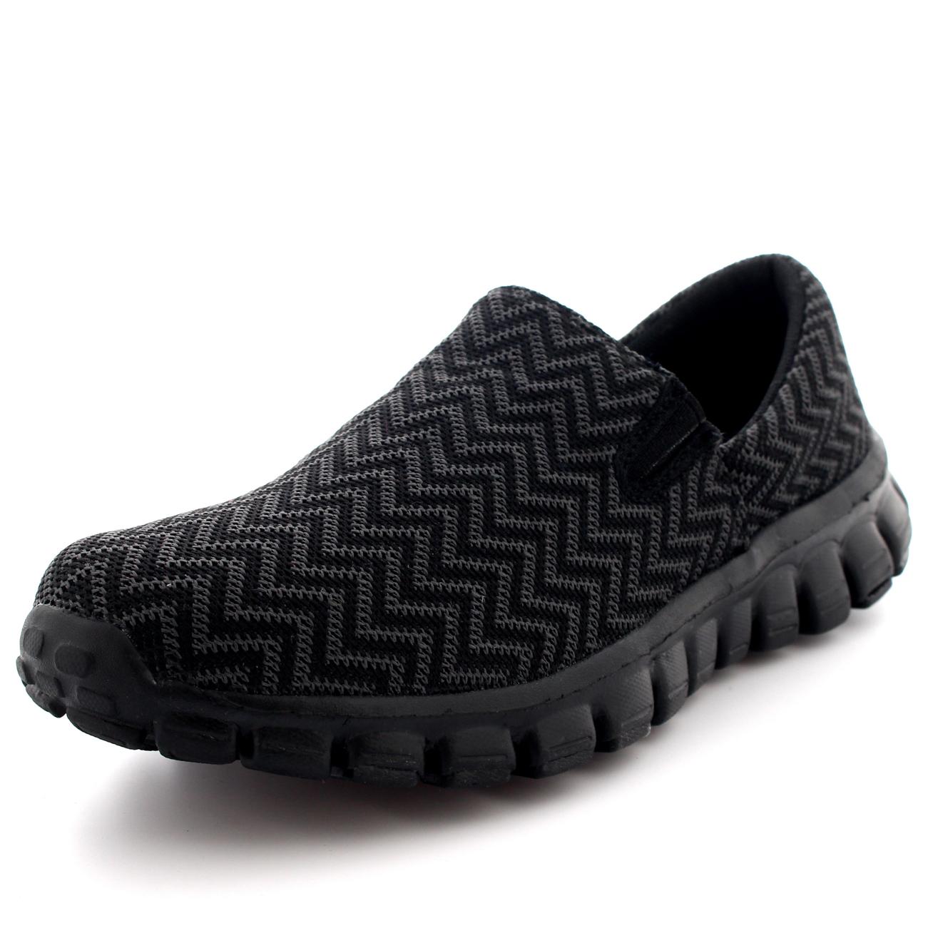 Women Trainers Slip On Memory Foam Casual Walking Running Gym SPORT Shoes UK