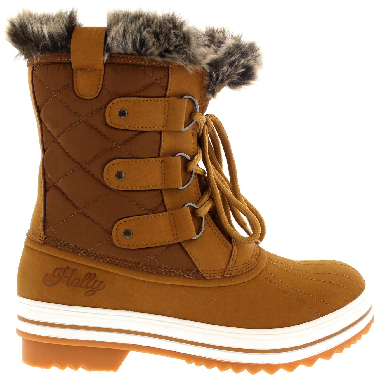 Womens Snow Boot Nylon Short Winter Snow Fur Rain Warm