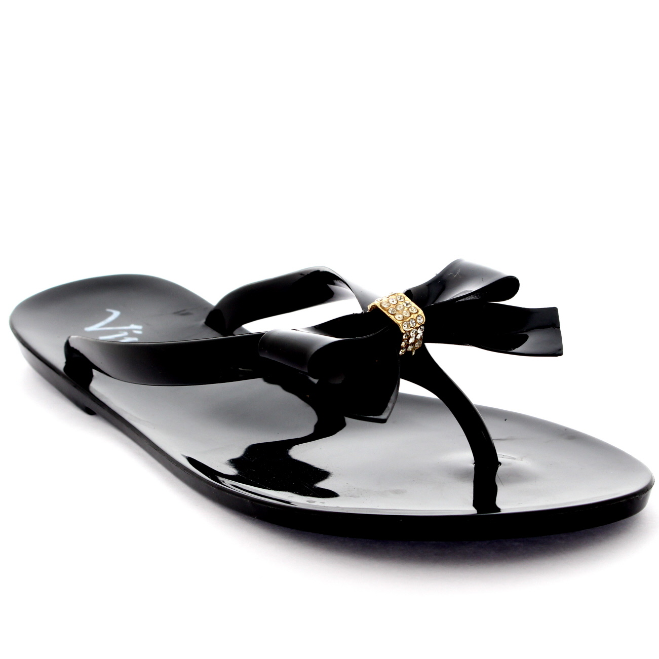 a9e3aa58a Womens Summer Holiday Slip On Beach Shoes Bow Jelly Flip Flops ...