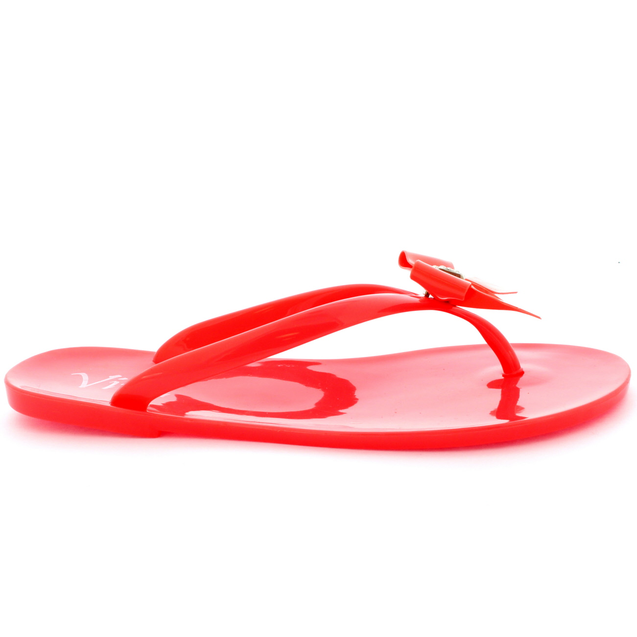 5c9e7f2f8c62eb Womens Summer Holiday Slip On Beach Shoes Bow Jelly Flip Flops ...